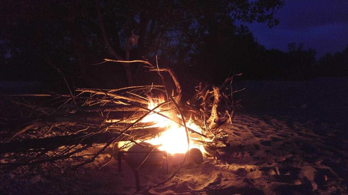 und das grosse Feuer darf natürlich auch nicht fehlen